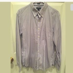 J. Crew Mens Tailored Fit Long Sleeve Shirt Large